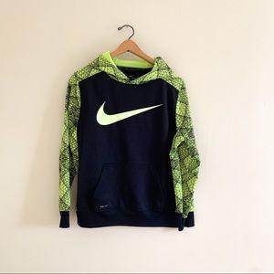 Nike Dri Fit Youth Neon Athletic Sweatshirt Hoddie